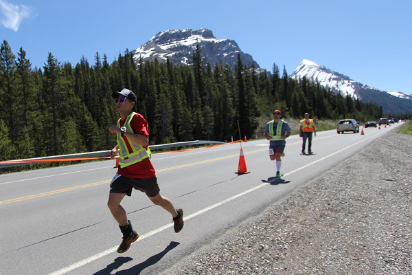 Dan powering along, photo by Musa Khan