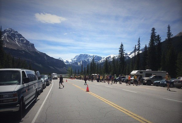 Great atmosphere on the Icefields Parkway, photo by Anna Powell @AnnasBanff