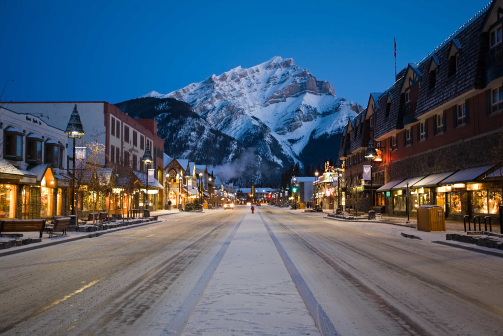 Banff Avenue:photo credit Banff Lake Louise Tourism / Paul Zizka Photography