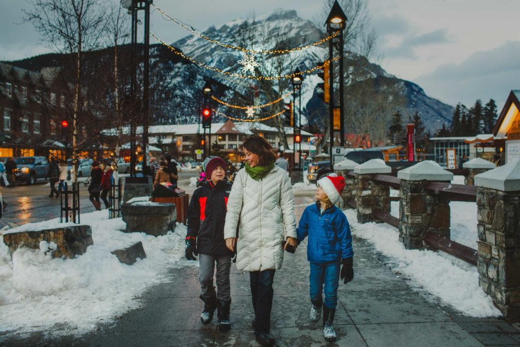 Christmas in Banff - Photo Credit Kelly MacDonald, Banff & Lake Louise Tourism