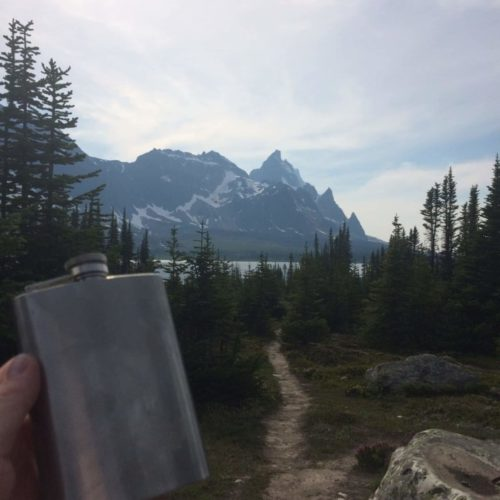 Rye Whiskey in the backcountry