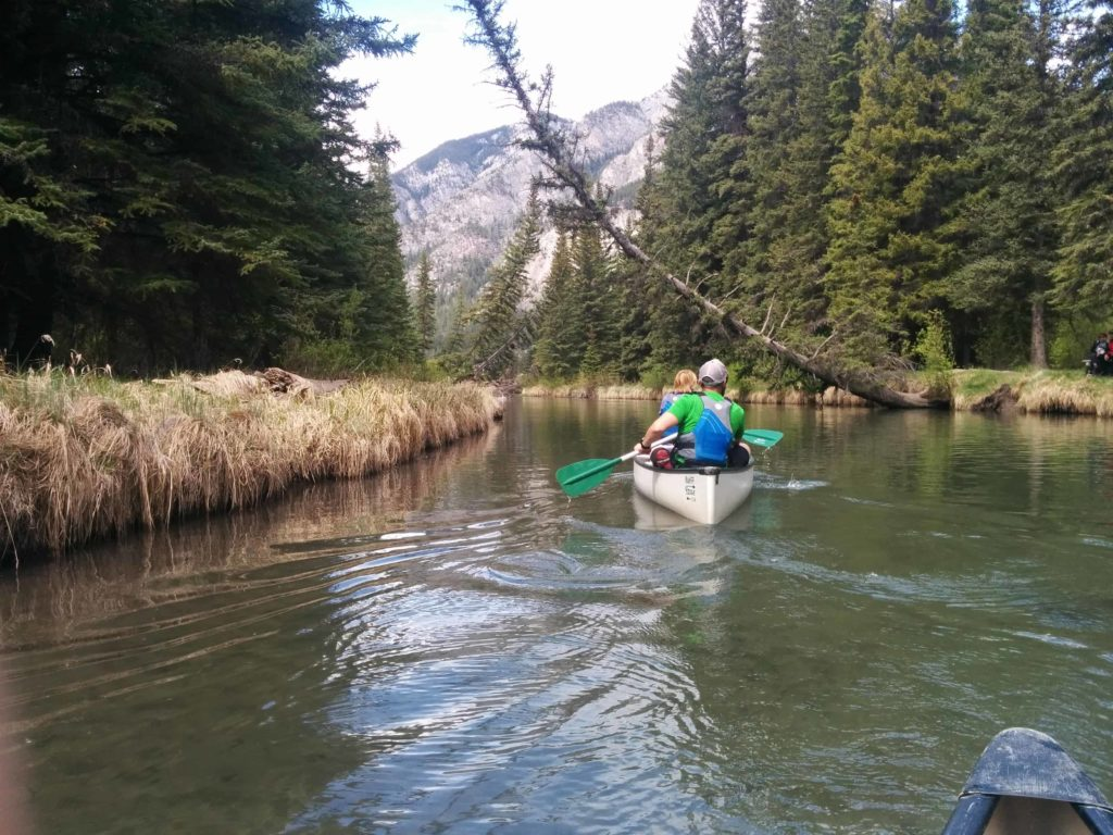 Canoeing Vermillion Lakes