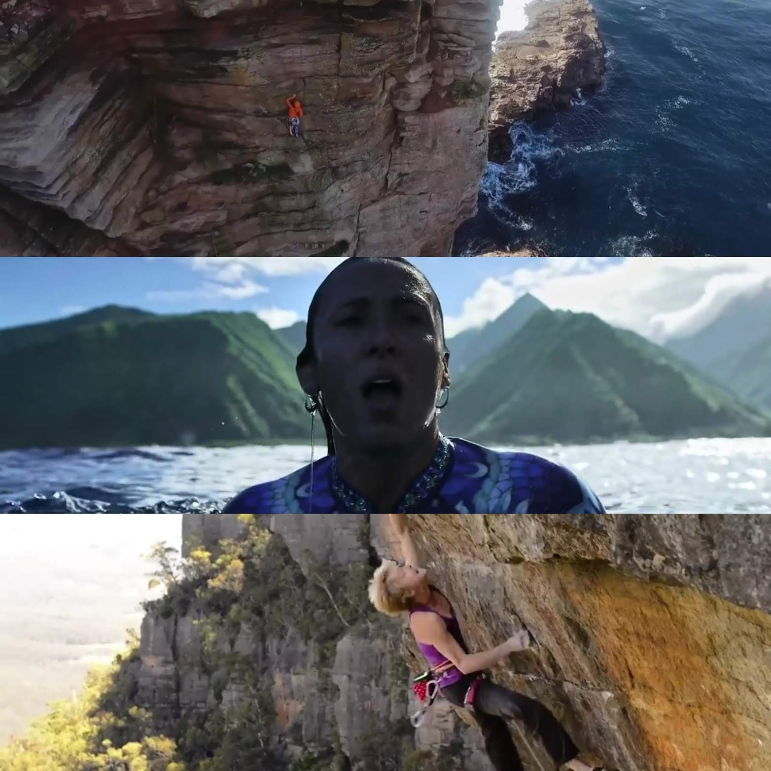 Climbing, swimming picture