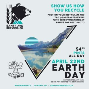 Earth day beer poster