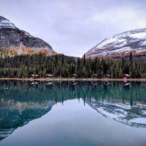 Lake O'Hara lodge reflections