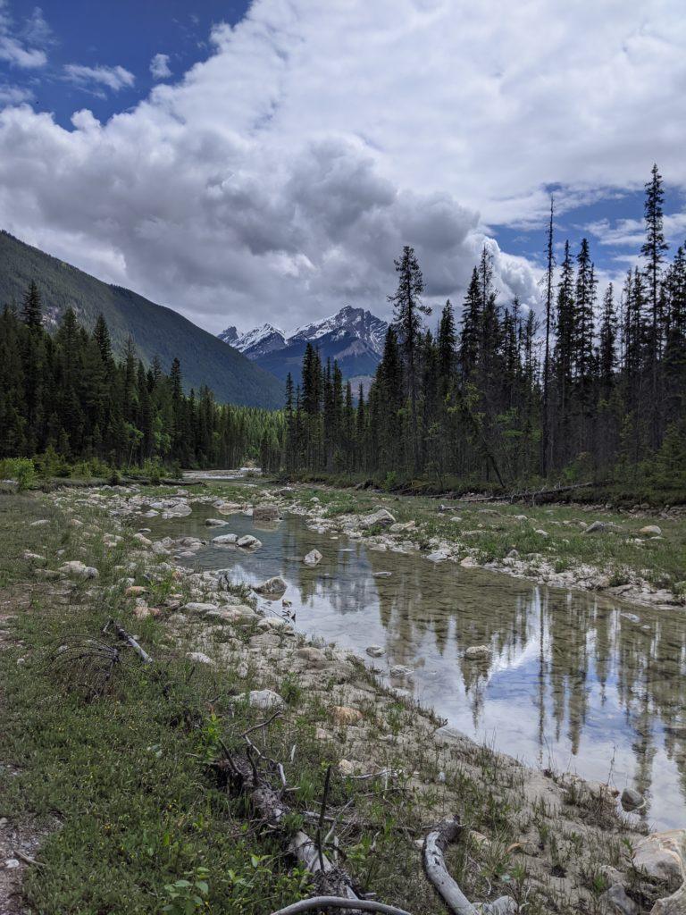 beatuiful calm mountain reflections