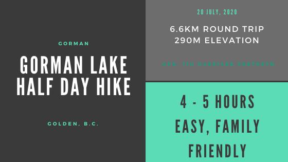 Gorman lake infographic