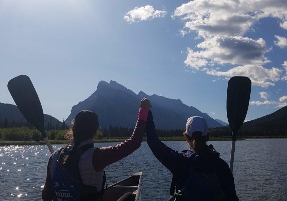 Vermillion lakes canoe