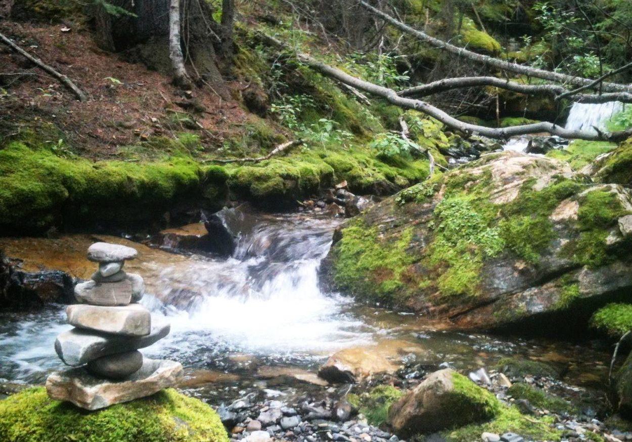 river and innukshuk