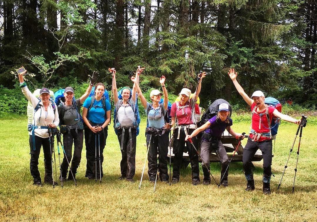 Happy Ladies after hike